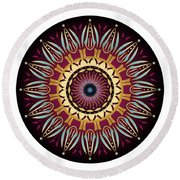 Circularium No 2639 Round Beach Towel