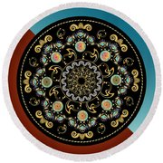 Circularium No 2640 Round Beach Towel by Alan Bennington