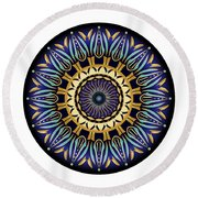 Circularium No 2641 Round Beach Towel by Alan Bennington