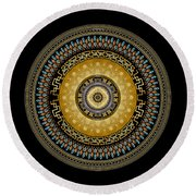 Circularium No 2642 Round Beach Towel by Alan Bennington