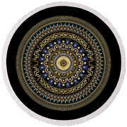Circularium No 2643 Round Beach Towel by Alan Bennington