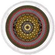 Circularium No. 2644 Round Beach Towel by Alan Bennington