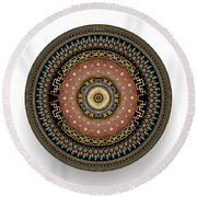 Circularium No 2645 Round Beach Towel by Alan Bennington