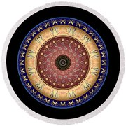 Circularium No 2646 Round Beach Towel by Alan Bennington