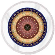 Circularium No 2647 Round Beach Towel by Alan Bennington