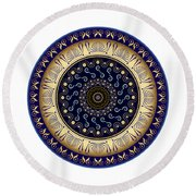 Circularium No 2648 Round Beach Towel by Alan Bennington