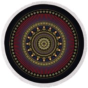 Circularium No 2649 Round Beach Towel by Alan Bennington