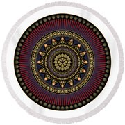 Circularium No 2650 Round Beach Towel by Alan Bennington