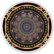 Circularium No 2651 Round Beach Towel by Alan Bennington