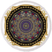 Circularium No 2652 Round Beach Towel by Alan Bennington