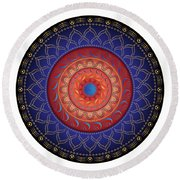 Circularium No 2654 Round Beach Towel by Alan Bennington