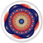 Circularium No 2655 Round Beach Towel by Alan Bennington