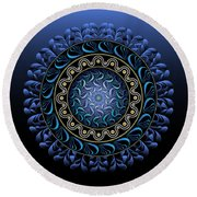 Circularium No 2656 Round Beach Towel by Alan Bennington