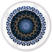 Circularium No 2657 Round Beach Towel by Alan Bennington