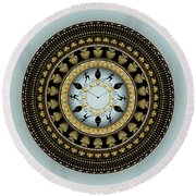 Circularium No 2658 Round Beach Towel by Alan Bennington