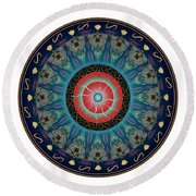 Circularium No 2661 Round Beach Towel by Alan Bennington