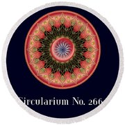 Circularium No 2662 Round Beach Towel by Alan Bennington