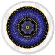 Circularium No 2714 Round Beach Towel by Alan Bennington