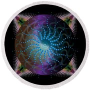 Circulariun No 2631 Round Beach Towel by Alan Bennington