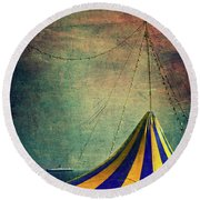 Circus With Distant Ships II Round Beach Towel