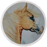 Palomino Paint - Cisco Round Beach Towel by Cheryl Poland
