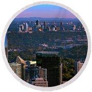 Cities Of Atlanta Round Beach Towel