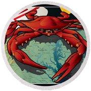 Citizen Crab Of Maryland Round Beach Towel