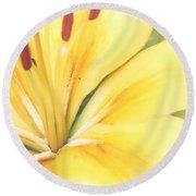 Citrine Blossom Round Beach Towel