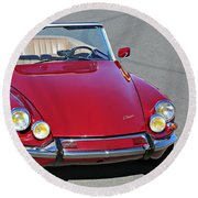 Citroen Ds19 Cabriolet  Round Beach Towel
