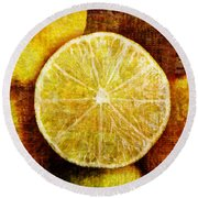 Citrus Round Beach Towel
