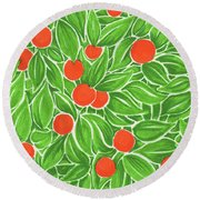 Citrus Pattern Round Beach Towel