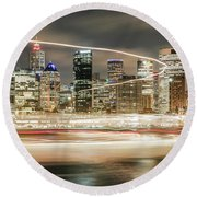 City Blur Round Beach Towel