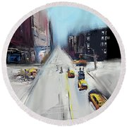 City Contrast Round Beach Towel