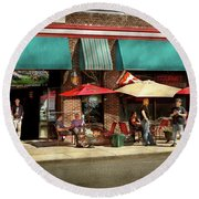 Round Beach Towel featuring the photograph City - Edison Nj - Pino's Basket Shop by Mike Savad