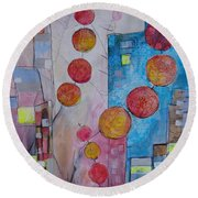 City Festival Round Beach Towel
