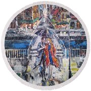City For Two Round Beach Towel