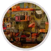 Evening Out Round Beach Towel by Nancy Kane Chapman