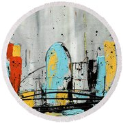 City Limits Round Beach Towel