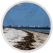 City Of Clearwater Skyline Round Beach Towel