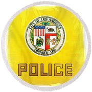 City Of Los Angeles - Police Round Beach Towel