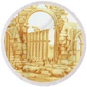 City Of Palmyra Round Beach Towel