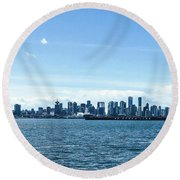 City Of Vancouver From The North Shore Round Beach Towel