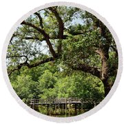 Round Beach Towel featuring the photograph At City Park 1 by Nicholas Blackwell