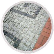 City Pavement Round Beach Towel