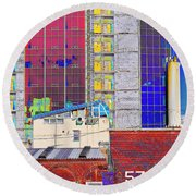 City Space Round Beach Towel