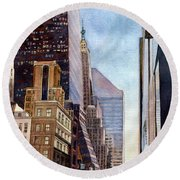 City Sunrise Round Beach Towel