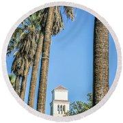 City Views Around California State Capitol Building In Sacrament Round Beach Towel