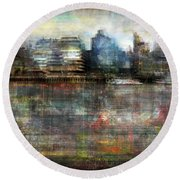 Cityscape #33. Silent Windows Round Beach Towel