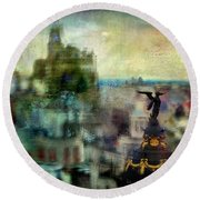 Cityscape 38 - Homeless Angels Round Beach Towel