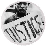 Civil Rights, 1961 Round Beach Towel